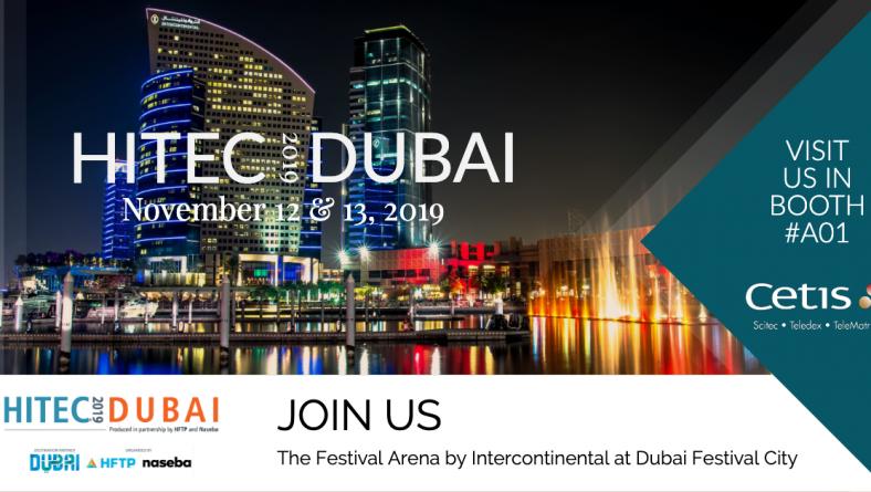(Українська) Cetis Middle East на HITEC 2019 Dubai, 12-13 листопада